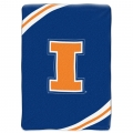 "Illinois Fighting Illini College ""Force"" 60"" x 80"" Super Plush Throw"