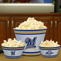 Milwaukee Brewers MLB Melamine 3 Bowl Serving Set