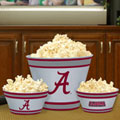 Alabama Crimson Tide NCAA College Melamine 3 Bowl Serving Set