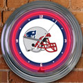 "New England Patriots NFL 15"" Neon Wall Clock"