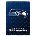 "Seattle Seahawks NFL ""Diamond Plate"" 60' x 80"" Raschel Throw"