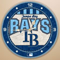 "Tampa Bay Devil Rays MLB 12"" Round Art Glass Wall Clock"