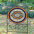 Chicago Bears NFL Stained Glass Outdoor Yard Sign