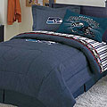 Seattle Seahawks NFL Team Denim Queen Comforter / Sheet Set