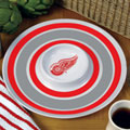 "Detroit Redwings NHL 14"" Round Melamine Chip and Dip Bowl"