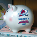 Colorado Avalanche NHL Ceramic Piggy Bank