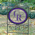 Colorado Rockies MLB Stained Glass Outdoor Yard Sign