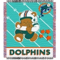 "Miami Dolphins NFL Baby 36"" x 46"" Triple Woven Jacquard Throw"