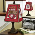 San Francisco 49ers NFL Art Glass Table Lamp