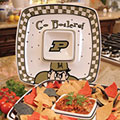 "Purdue Boilermakers NCAA College 14"" Gameday Ceramic Chip and Dip Tray"