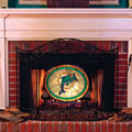 Miami Dolphins NFL Stained Glass Fireplace Screen