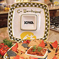 "Iowa Hawkeyes NCAA College 14"" Gameday Ceramic Chip and Dip Tray"