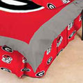 Georgia Bulldogs 100% Cotton Sateen Queen Bed Skirt - Red