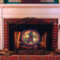 Los Angeles Anaheim Angels MLB Stained Glass Fireplace Screen