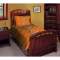 "Illinois Fighting Illini NCAA College Twin Comforter Set 63"" x 86"""
