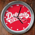"Detroit Redwings NHL 12"" Chrome Wall Clock"