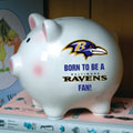 Baltimore Ravens NFL Ceramic Piggy Bank