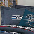 Seattle Seahawks NFL Team Denim Pillow Sham