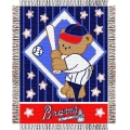 "Atlanta Braves MLB Baby 36""x 46"" Triple Woven Jacquard Throw"