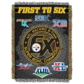 "Pittsburgh Steelers NFL ""Commemorative"" 48"" x 60"" Tapestry Throw"