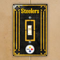 Pittsburgh Steelers NFL Art Glass Single Light Switch Plate Cover