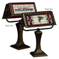Atlanta Falcons NFL Art Glass Bankers Lamp