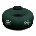 New York Jets NFL Vinyl Inflatable Chair w/ faux suede cushions