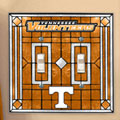 Tennessee Vols NCAA College Art Glass Double Light Switch Plate Cover