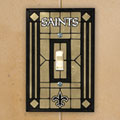 New Orleans Saints NFL Art Glass Single Light Switch Plate Cover