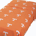Tennessee Vols 100% Cotton Sateen Twin XL Dorm Sheet Set - Orange