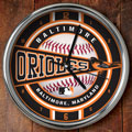 "Baltimore Orioles MLB 12"" Chrome Wall Clock"