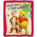 "Winnie The Pooh Tigger & Pooh Growing Trees Entertainment 50"" x 60"" Micro Raschel Throw"