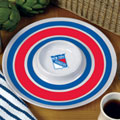 "New York Rangers NHL 14"" Round Melamine Chip and Dip Bowl"