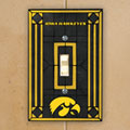 Iowa Hawkeyes NCAA College Art Glass Single Light Switch Plate Cover