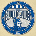 "Duke Blue Devils NCAA College 12"" Round Art Glass Wall Clock"