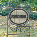 Oakland Raiders NFL Stained Glass Outdoor Yard Sign