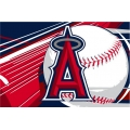 "Los Angeles Angels MLB 39"" x 59"" Acrylic Tufted Rug"