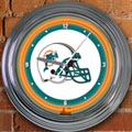 "Miami Dolphins NFL 15"" Neon Wall Clock"