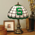 Michigan State Spartans NCAA College Stained Glass Tiffany Table Lamp