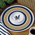 "Milwaukee Brewers MLB 14"" Round Melamine Chip and Dip Bowl"