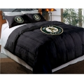 "Oakland Athletics MLB Twin Chenille Embroidered Comforter Set with 2 Shams 64"" x 86"""