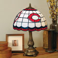 Cincinnati Reds MLB Stained Glass Tiffany Table Lamp