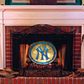 New York Yankees MLB Stained Glass Fireplace Screen