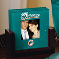 Miami Dolphins NFL Art Glass Photo Frame Coaster Set