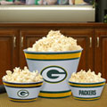 Green Bay Packers NFL Melamine 3 Bowl Serving Set