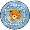 "Teddy Center Blue Rug (39"" Round)"