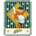 "Oakland Athletics MLB Baby 36""x 46"" Triple Woven Jacquard Throw"