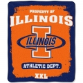 "Illinois Fighting Illini College ""Property of"" 50"" x 60"" Micro Raschel Throw"