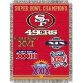 "San Francisco 49ers NFL ""Commemorative"" 48"" x 60"" Tapestry Throw"