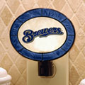 Milwaukee Brewers MLB Art Glass Nightlight